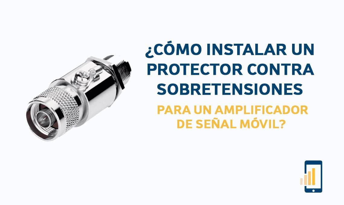Cómo instalar un protector contra sobretensiones para un amplificador de señal