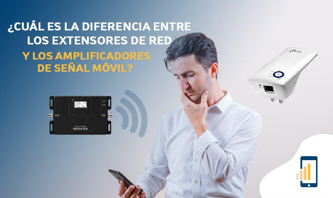 Cuál es la diferencia entre los extensores de red y los amplificadores de señal móvil